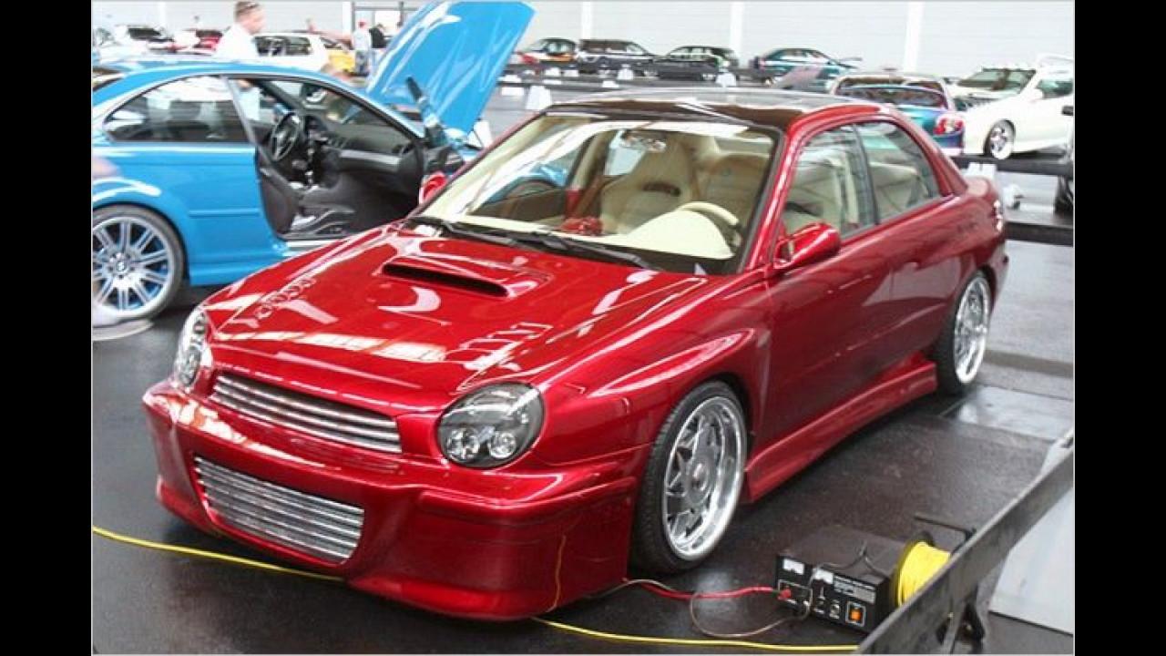 Seltenes Stück: Ein getunter Subaru Impreza der vorletzten Generation