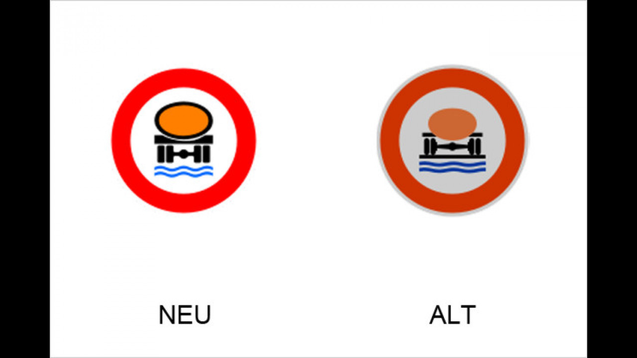 Verbot für Fahrzeuge mit mehr als 20 Liter wassergefährdender Ladung