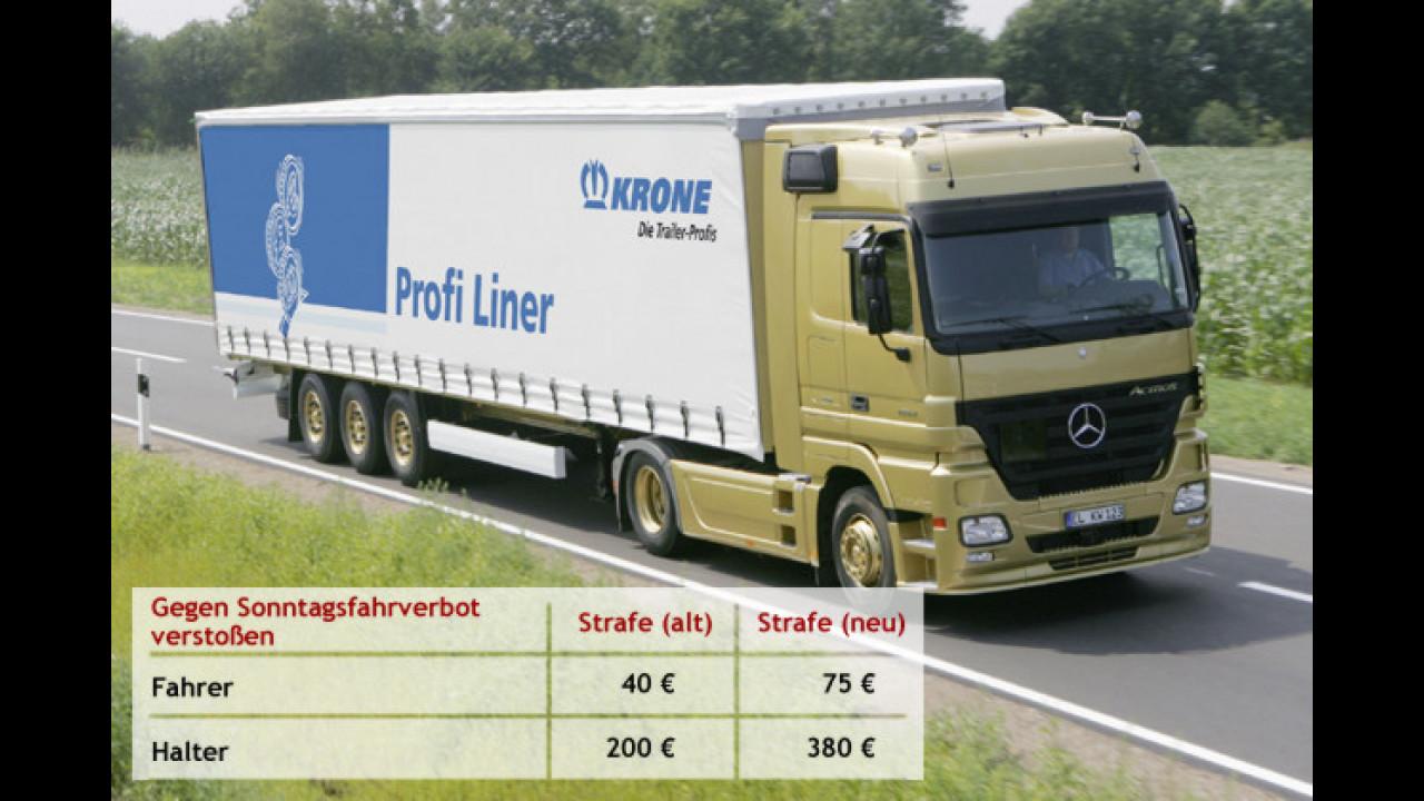 LKWs dürfen sonntags nur mit Genehmigung fahren