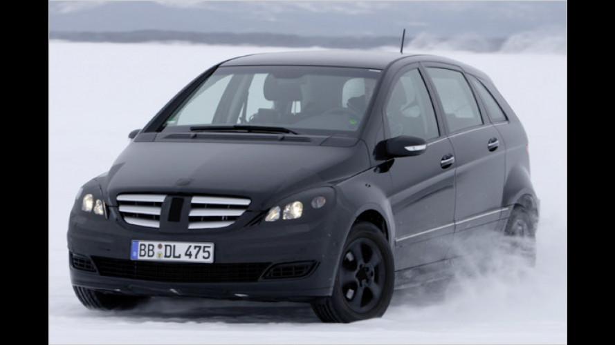 Mercedes B-Klasse bewährt sich beim Wintersport