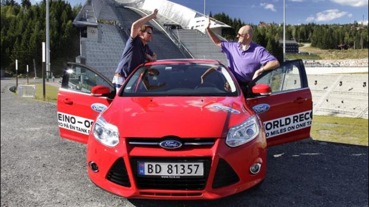 [Copertina] - Ford Focus Ecoboost 1.0: oltre 1.600 km con un pieno