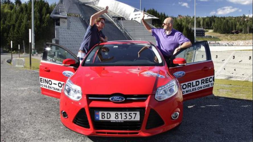 Ford Focus Ecoboost 1.0: oltre 1.600 km con un pieno
