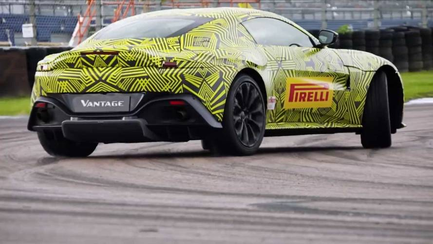 Aston Martin Vantage Gets Slo-Mo Sideways In Latest Teaser