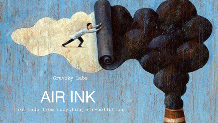 Start-up captures air pollution and turns it into ink