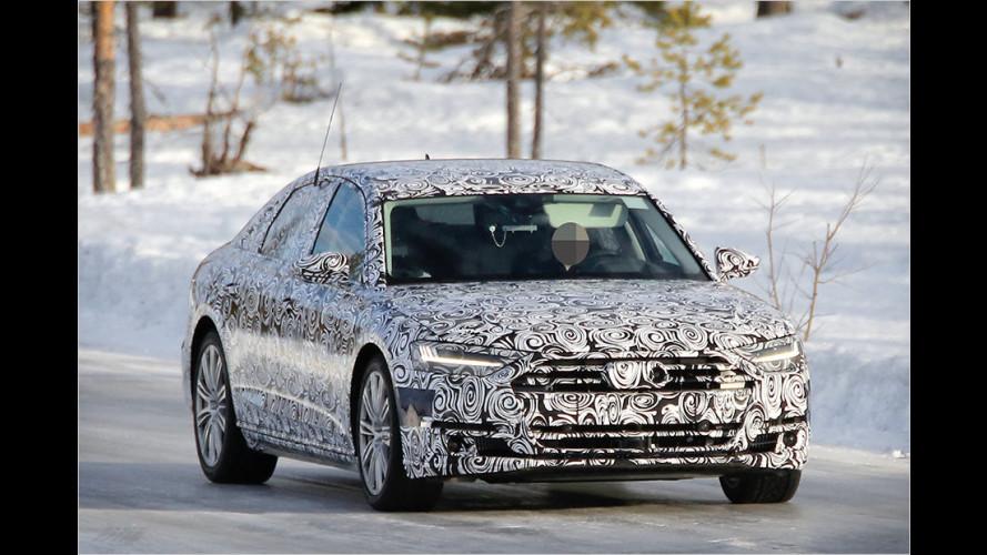 Neuer Audi A8 (2017) als Erlkönig: Da fährt die Nobel-Limousine