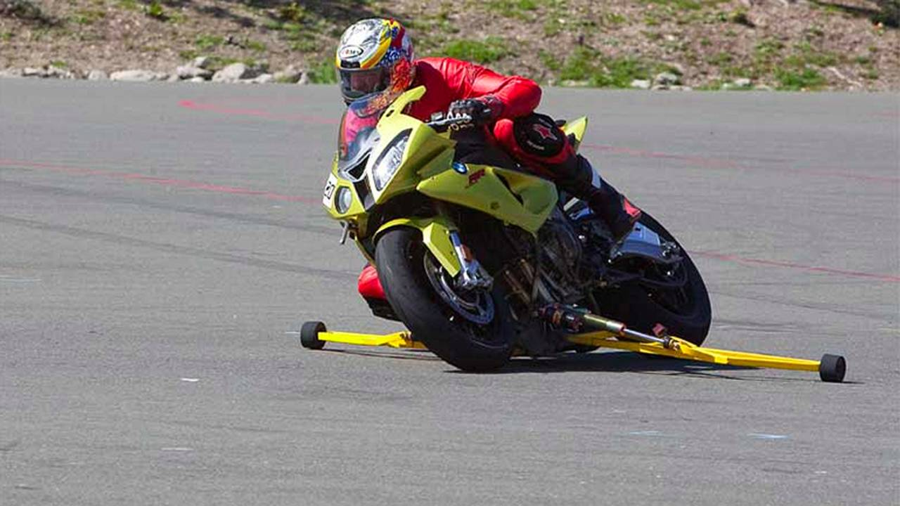 California Superbike School Lean Bike