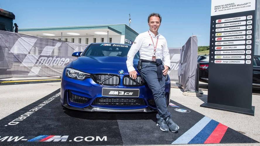 Top MotoGP Qualifier Will Win Frozen Dark Blue BMW M3 CS