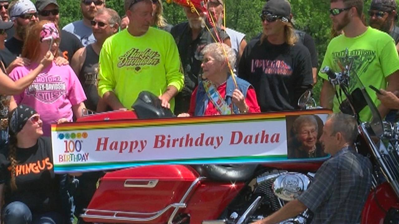 Grandma Takes Her First Ride on 100th Birthday