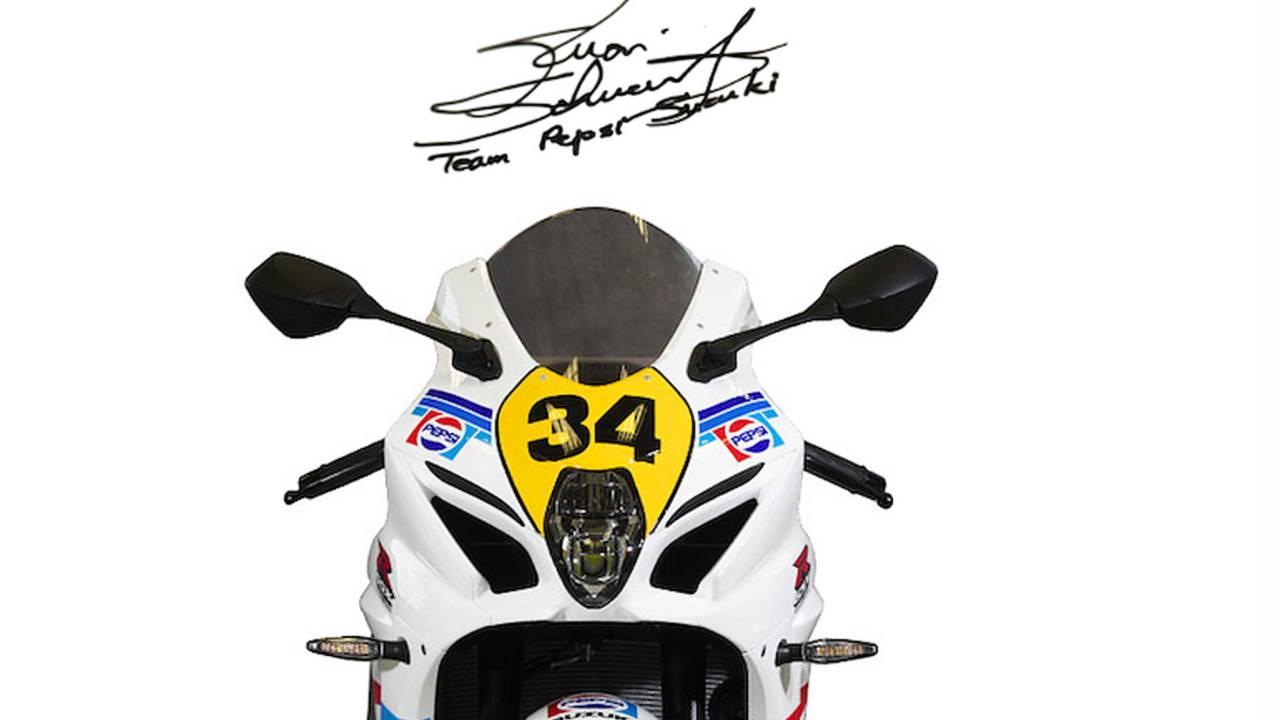 Each bike includes an authentic Kevin Schwantz signature