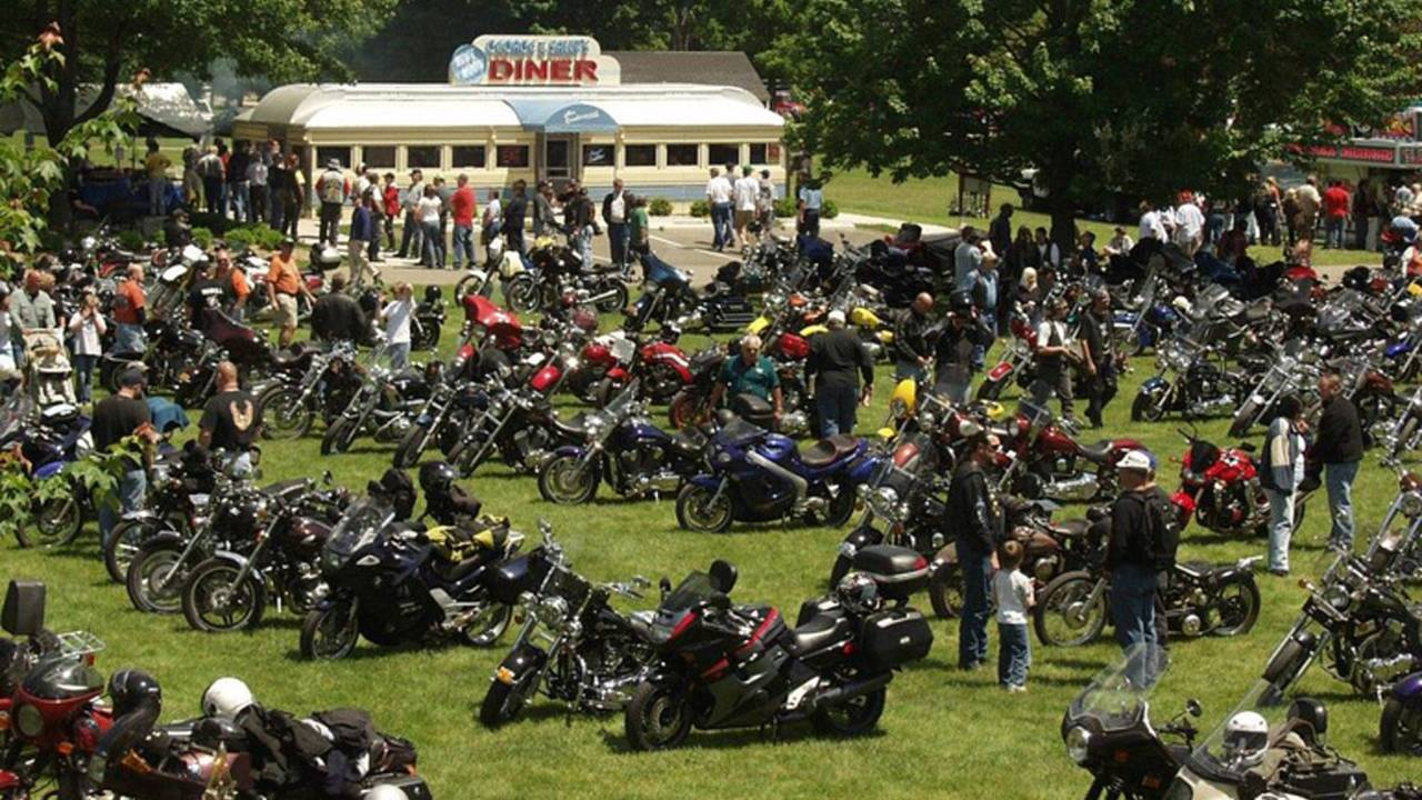Motorcycles Take Over Gilmore Car Museum