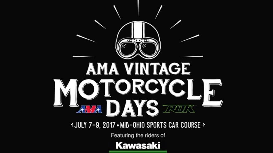Kawasaki Sponsors AMA Vintage Motorcycle Days