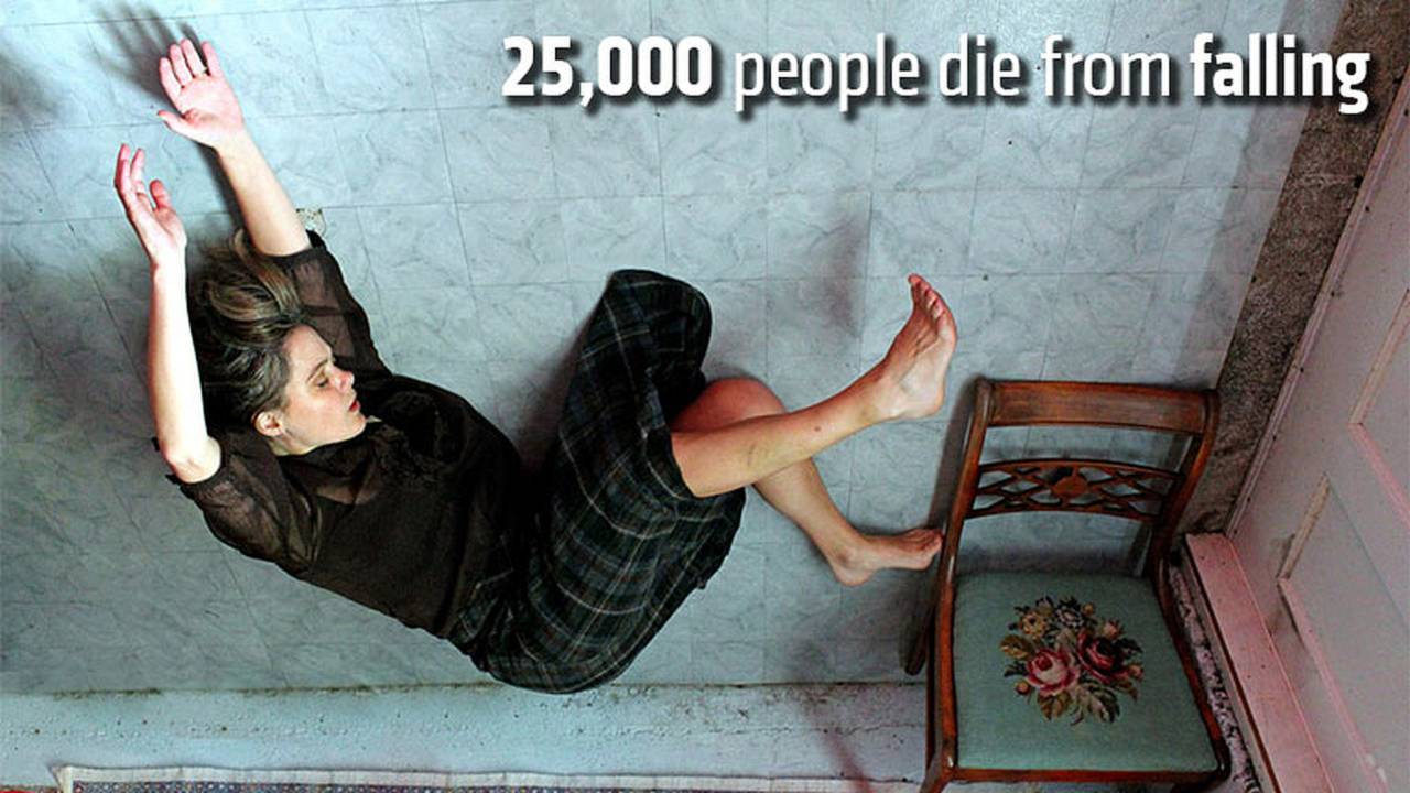 25,000 people die from falling