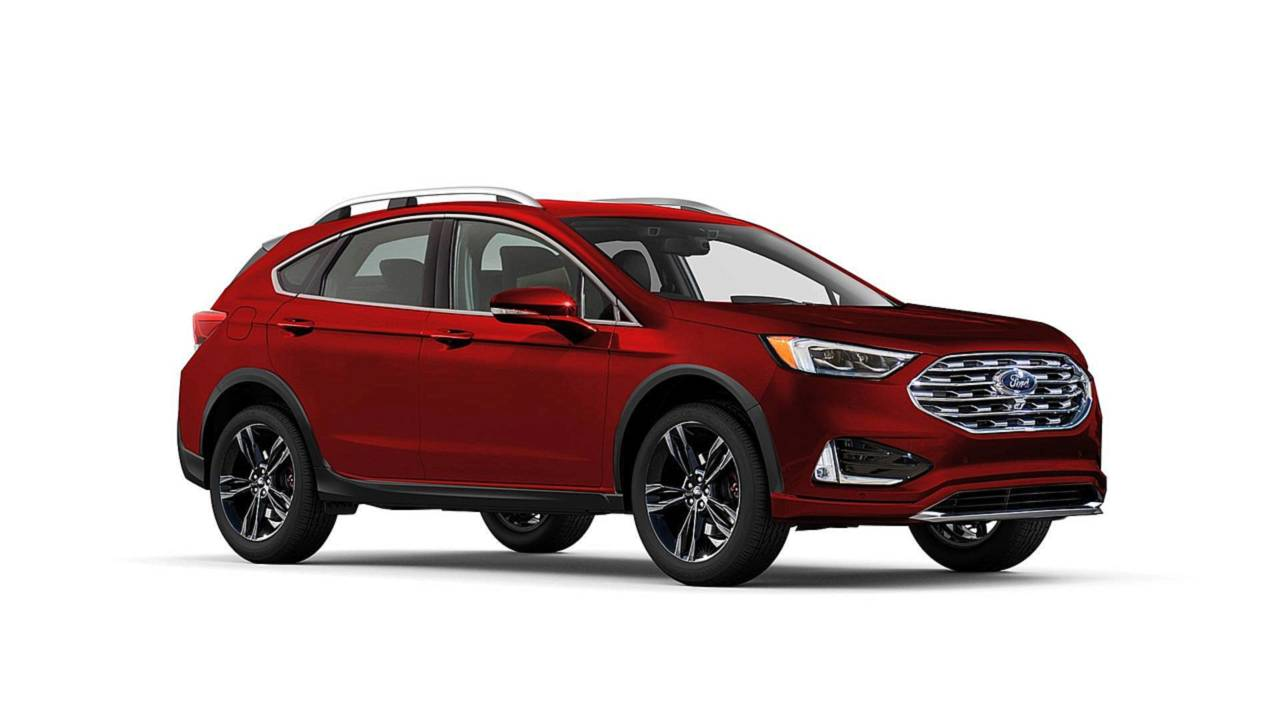 2020 Ford Fusion SUV Render