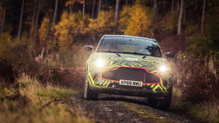 Aston Martin DBX testing in Wales