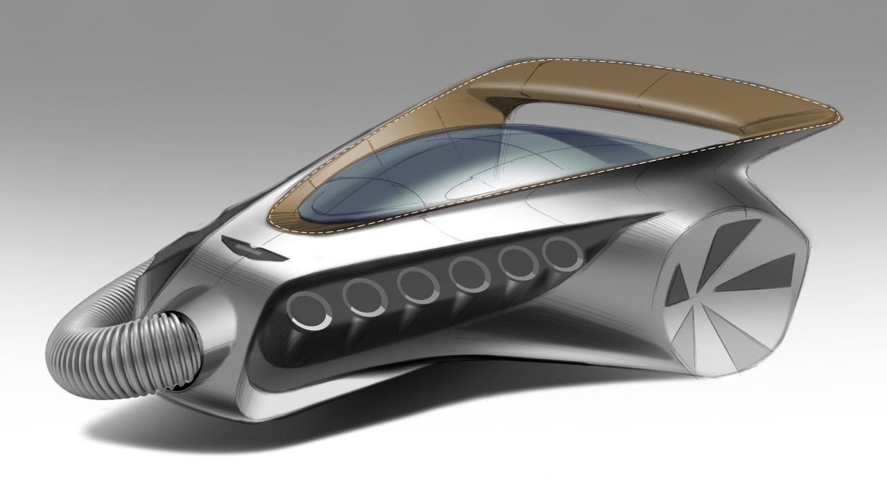 Aston Martin V12 vacuum cleaner render