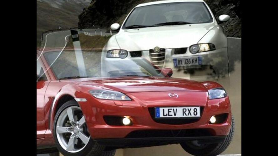 Alfa 147 GTA vs Mazda RX8