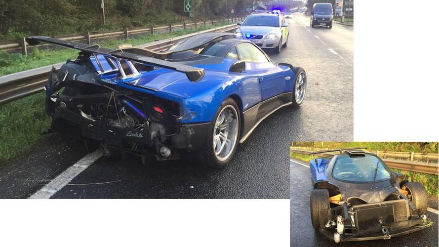 Pagani crashes in West Sussex