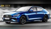 2021 Genesis G70 Rendering By AtchaCars