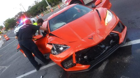 2020 Chevy Corvette C8 Crashes Just A Day After Delivery