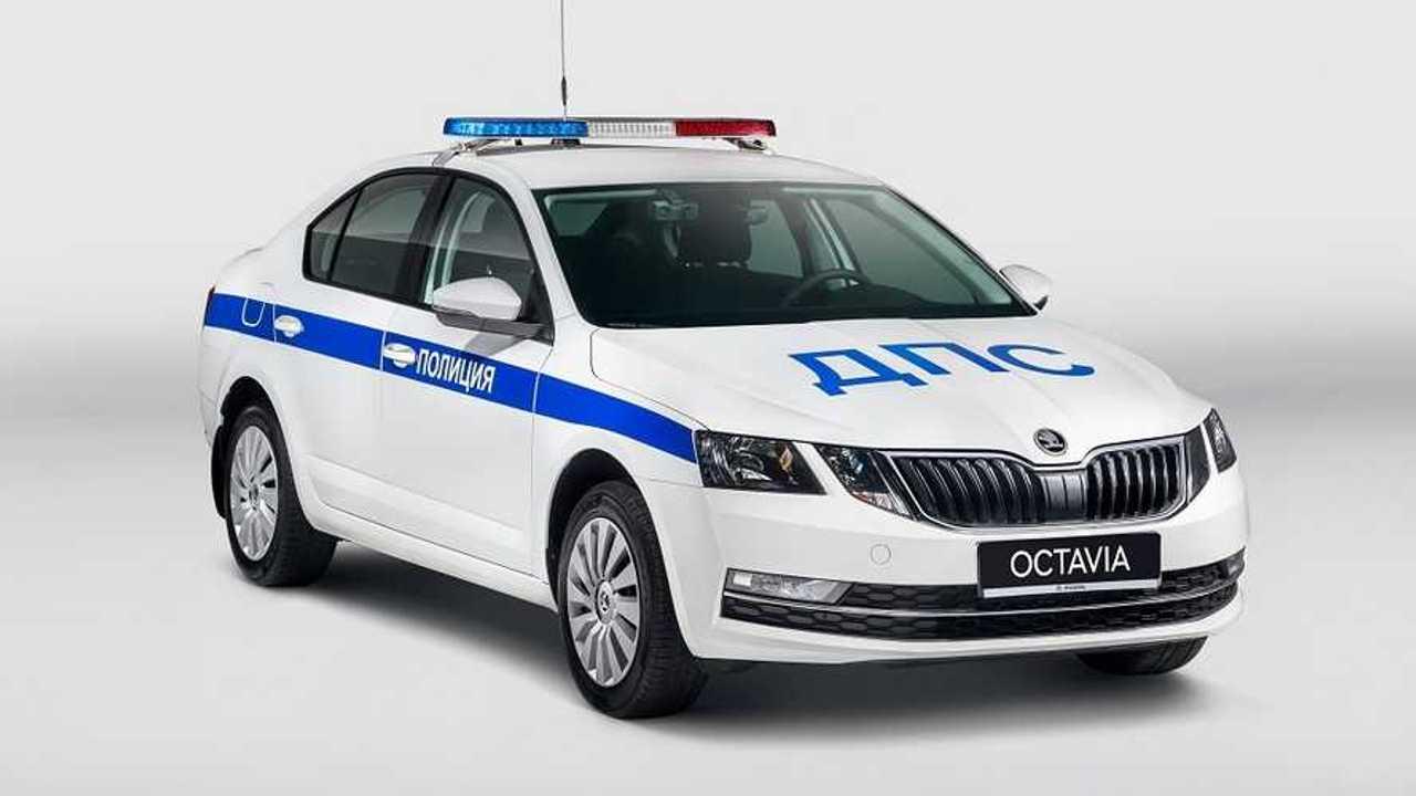 Полицейская Skoda Octavia