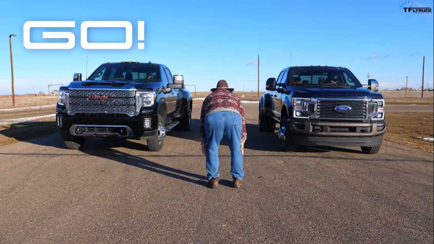 Ford F-350 Vs GMC Sierra 3500 Is The Drag Race We Weren't Expecting