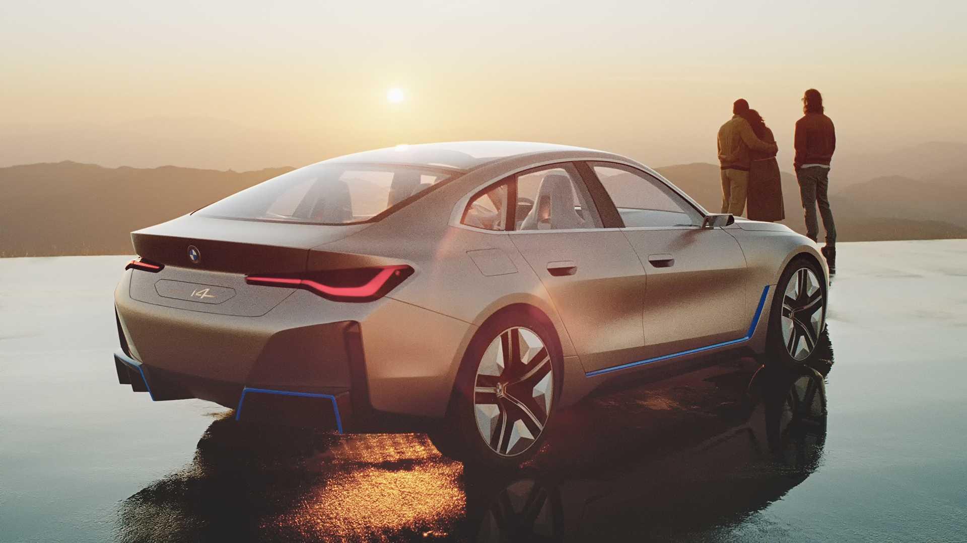 Bmw I4 Concept Ev Debuts Big Grille Bigger Power 270 Mile Range