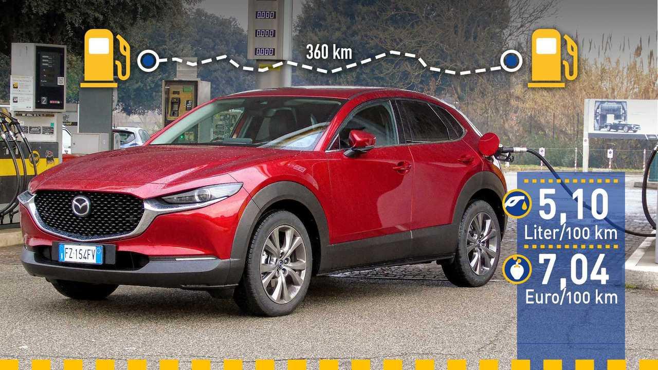 Mazda CX-30 (2020) im Verbrauchstest