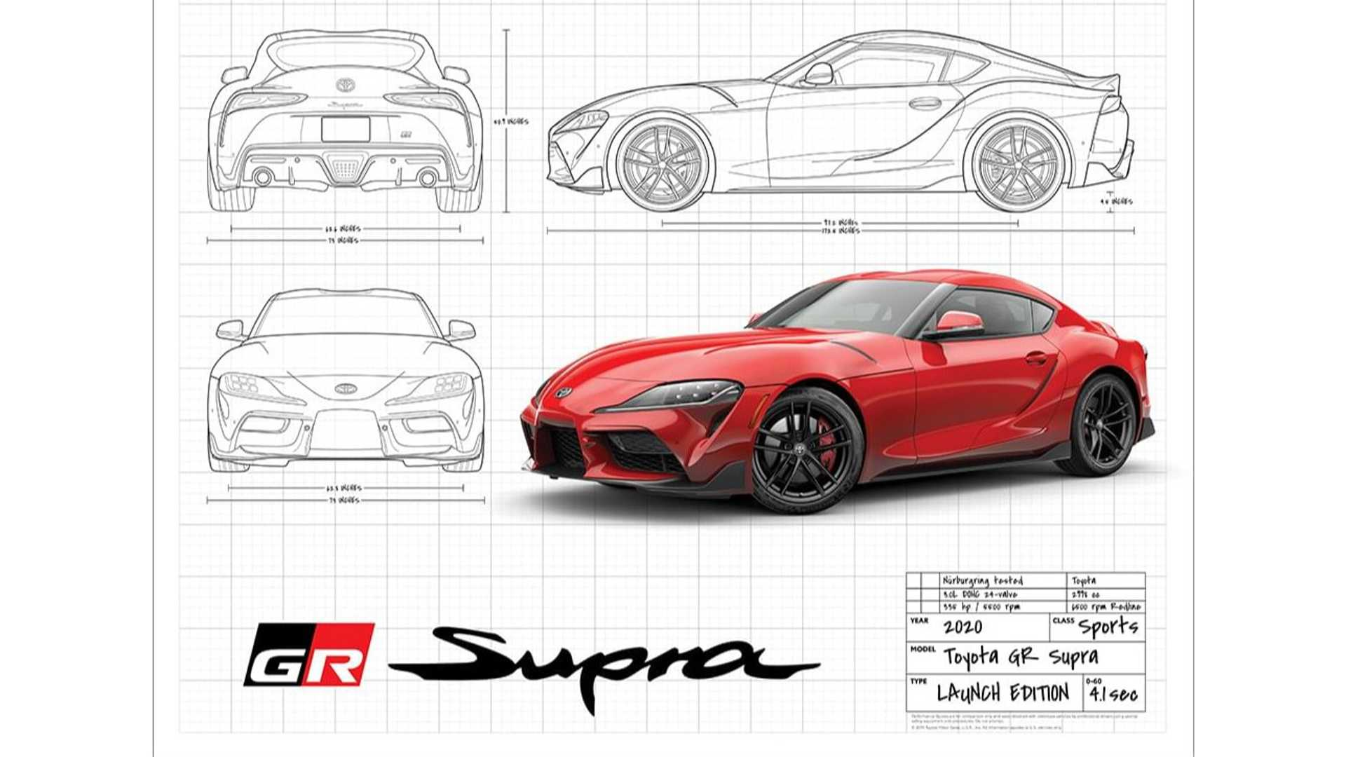 2020 Toyota Supra Poster