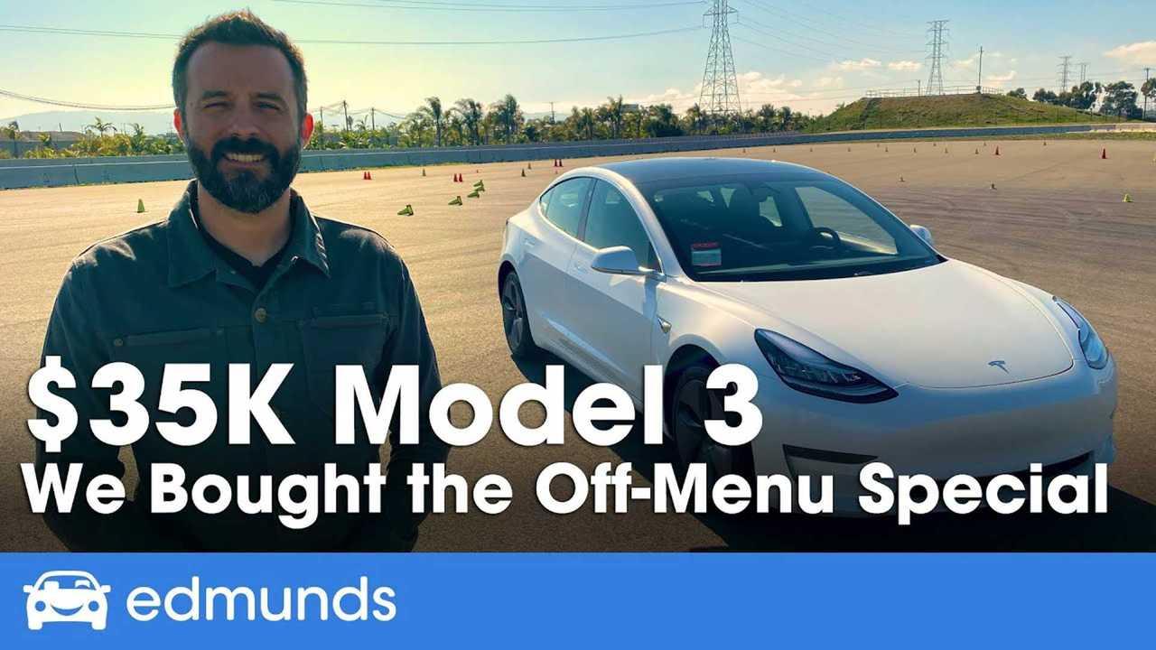 Cheap Tesla Model 3 Review: Edmunds Bought $35K Off-Menu ...