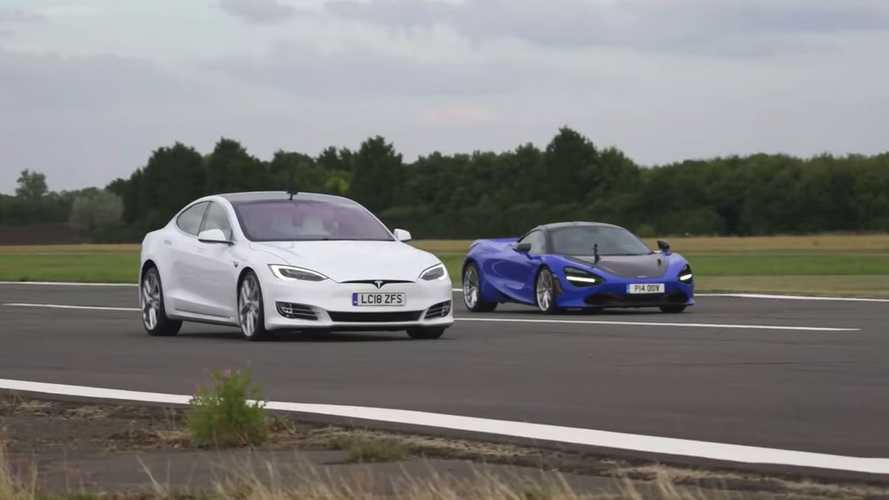 Watch Tesla Model S P100D challenge McLaren 720S in drag race