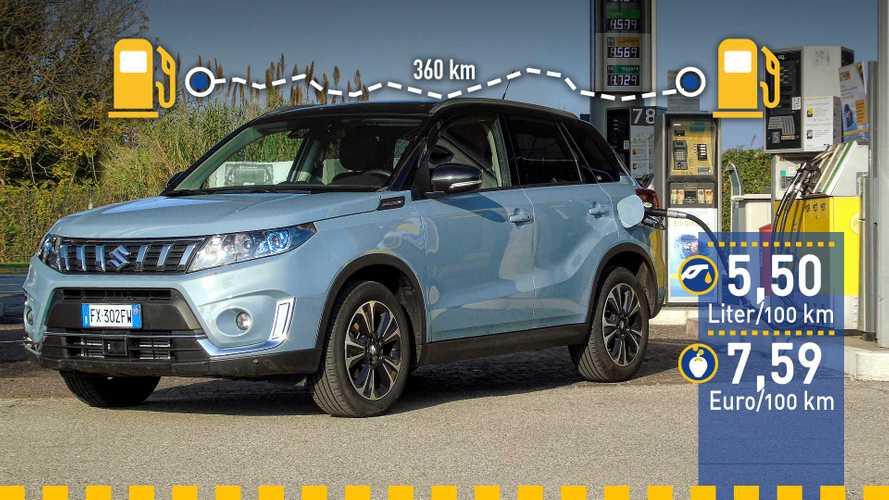 Tatsächlicher Verbrauch: Suzuki Vitara 1.0 Boosterjet Allgrip im Test