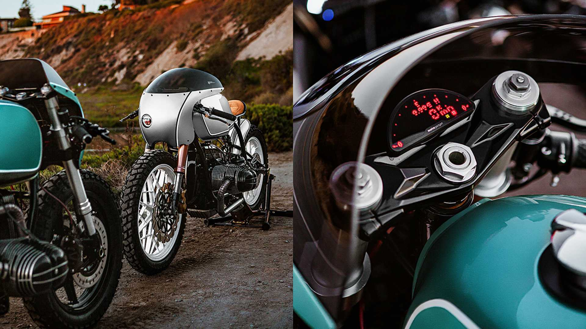 "[""Enter To Win This Amazing Pair Of BMW R100 Cafe Racers""]"