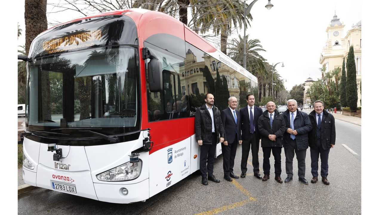 The first Irizar Group autonomous bus is presented in Malaga