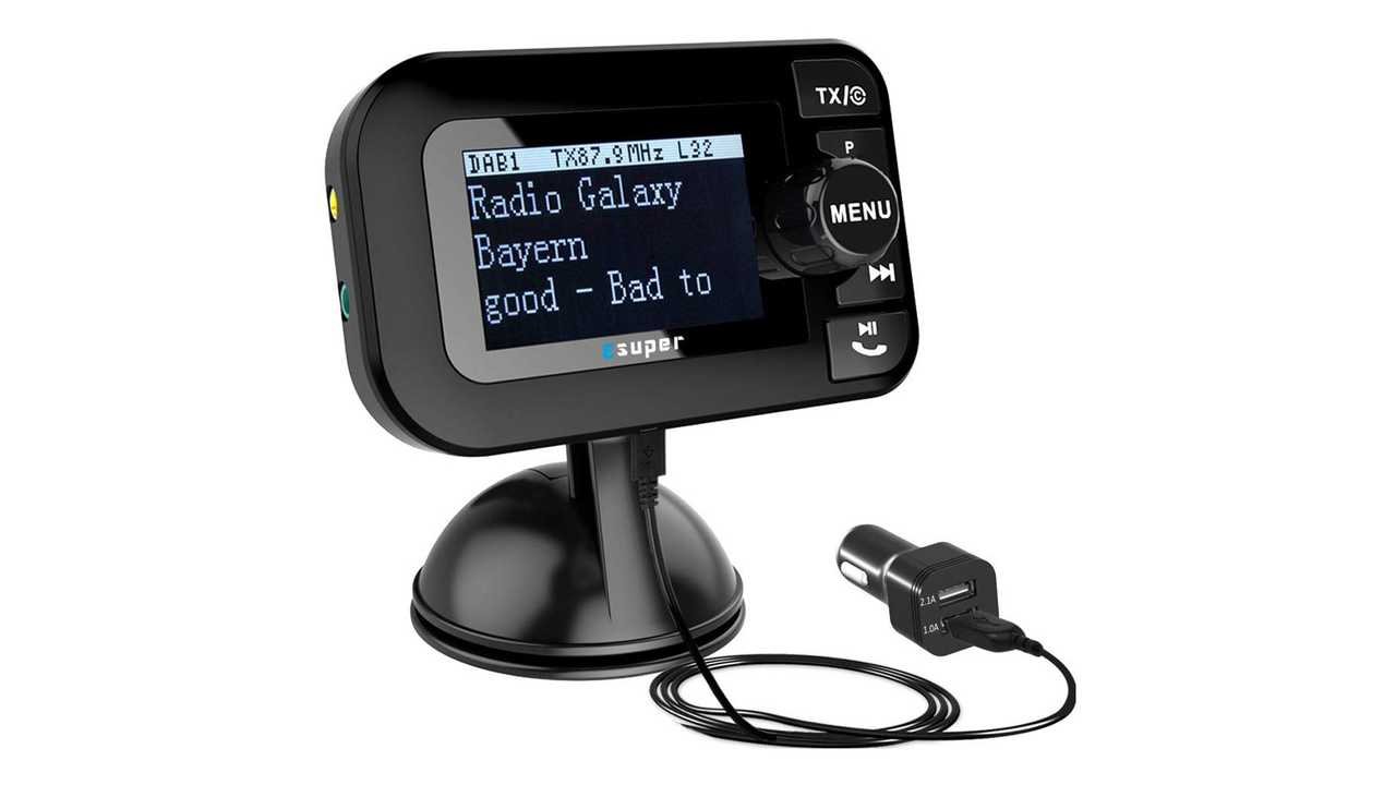 DAB+ Radio Adapter mit Bluetooth FM Transmitter