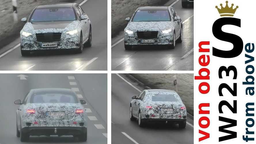 New Mercedes S-Class Spied From Above Looking Large And In Charge