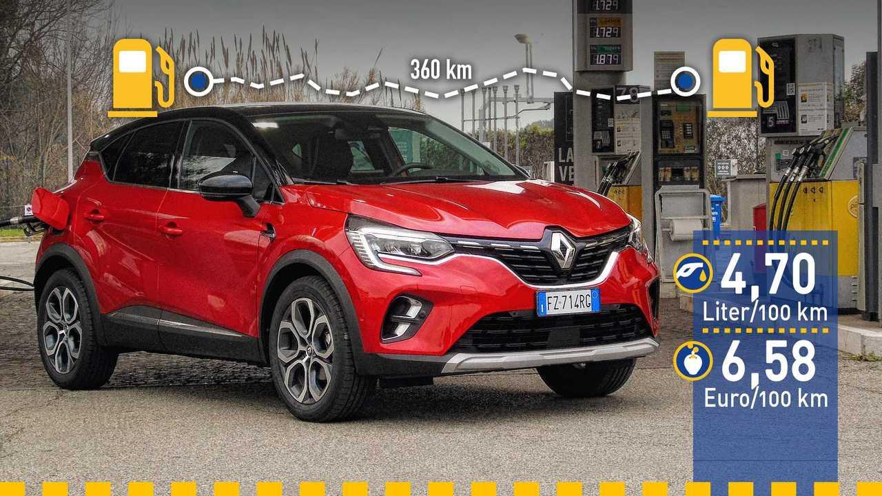 Renault Captur (2020) im Verbrauchstest