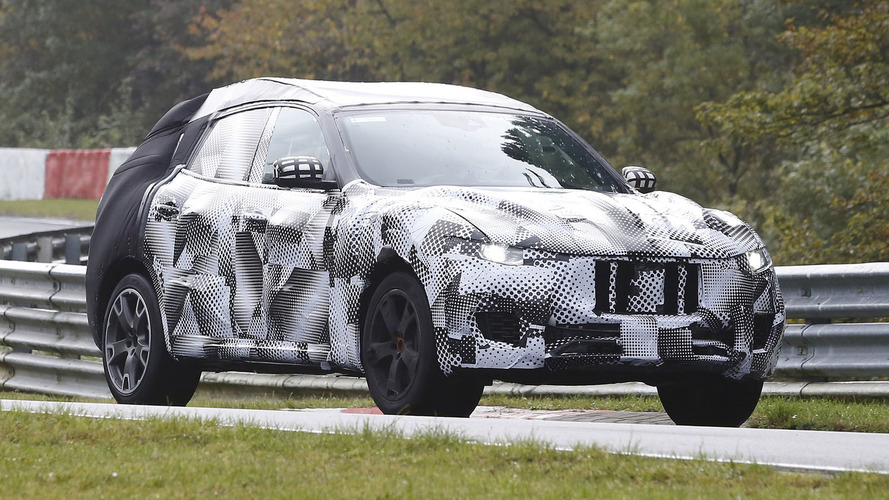 Maserati Levante loses some camo on latest Ring run