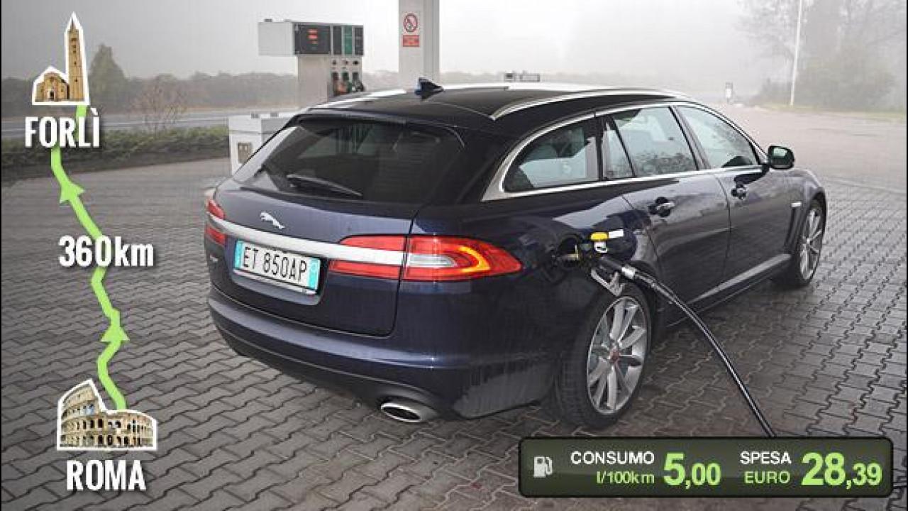 [Copertina] - Jaguar XF 2.2 D Sportbrake, la prova dei consumi
