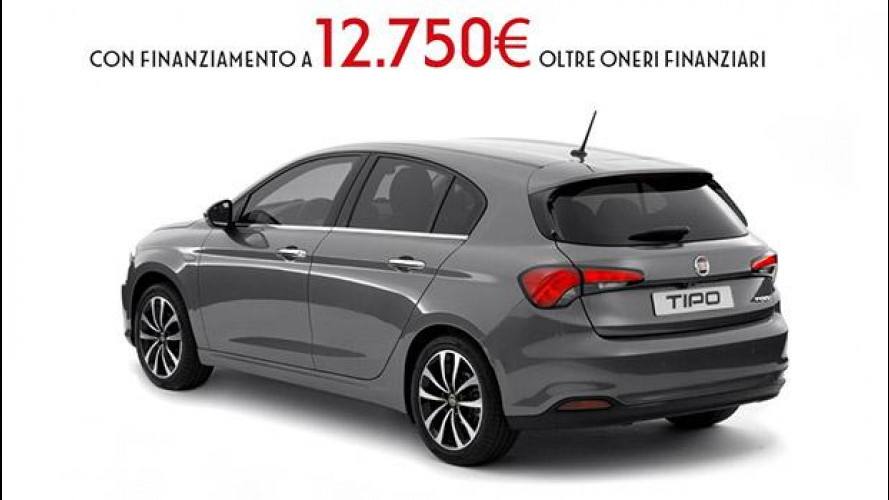 Fiat Tipo 5 porte, prezzo di lancio a 12.750 euro