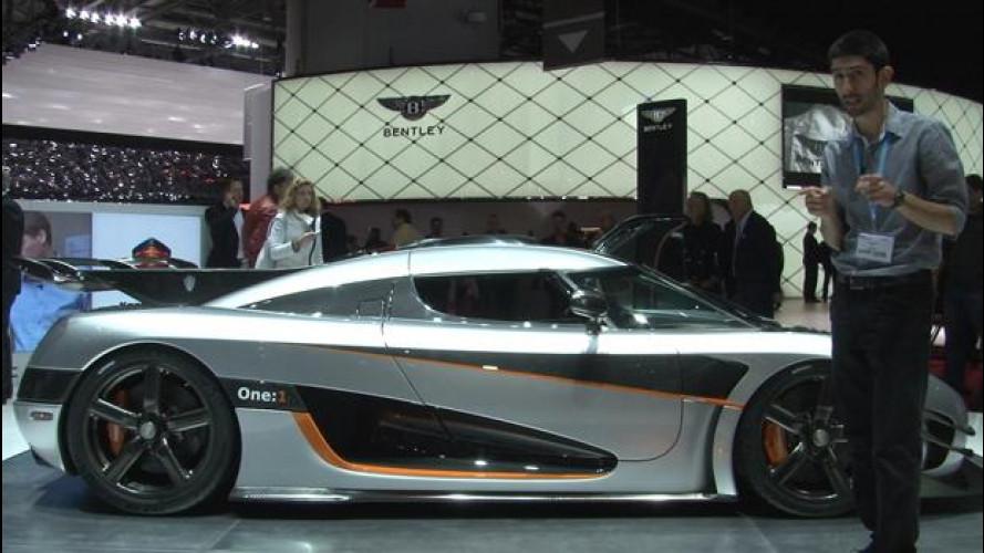 Koenigsegg One:1,  l'auto da 1 megawatt al Salone di Ginevra