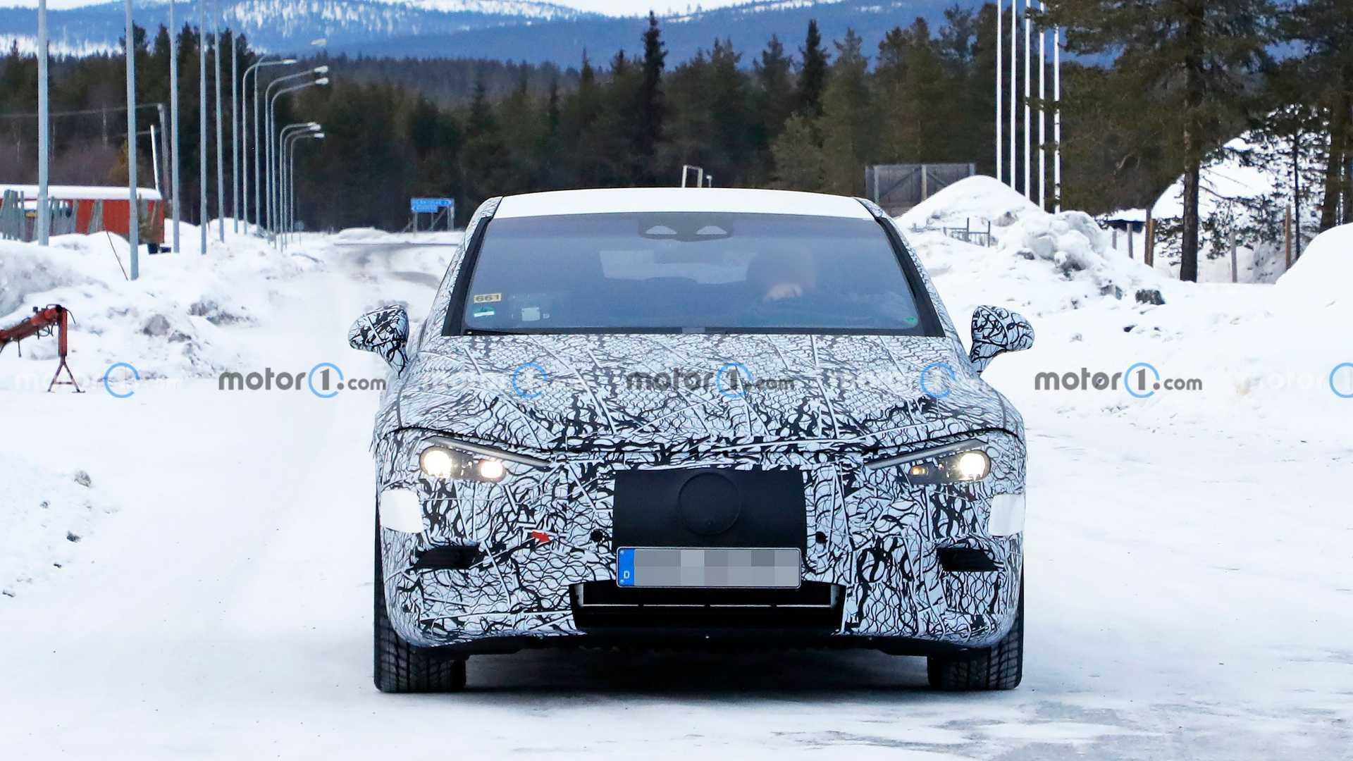 2022 Mercedes EQE electric sedan spy photo