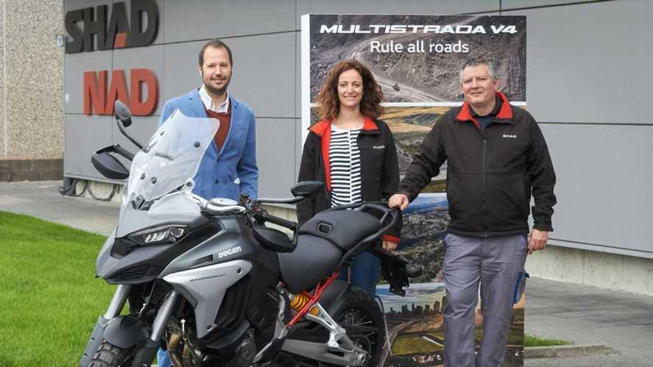 Ducati Multistrada V4 with SHAD NAD saddles - Team Alternate