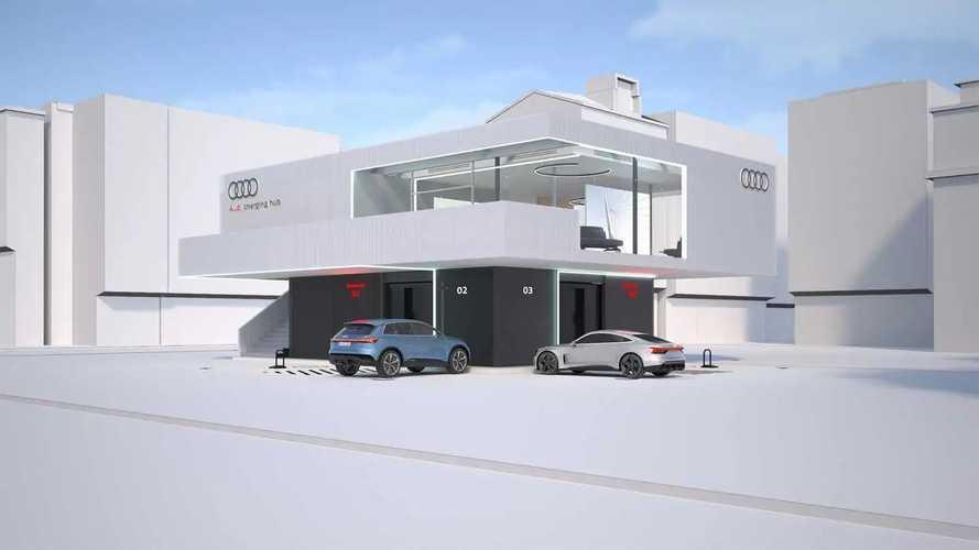 Így álmodta meg az Audi a jövő töltőállomásait