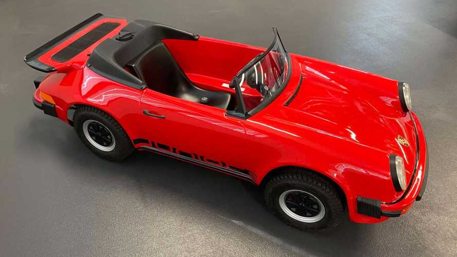 Mini Porsche 911 go-kart for sale with whale tale is beyond adorable