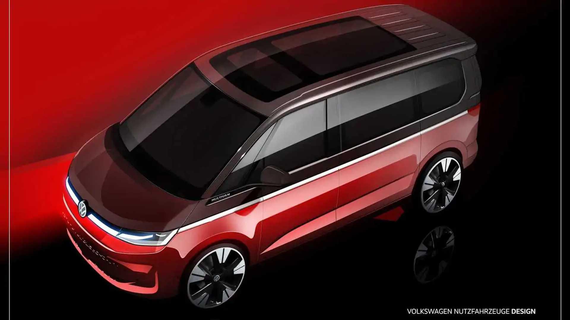 Volkswagen Multivan, un teaser mostra il nuovo frontale