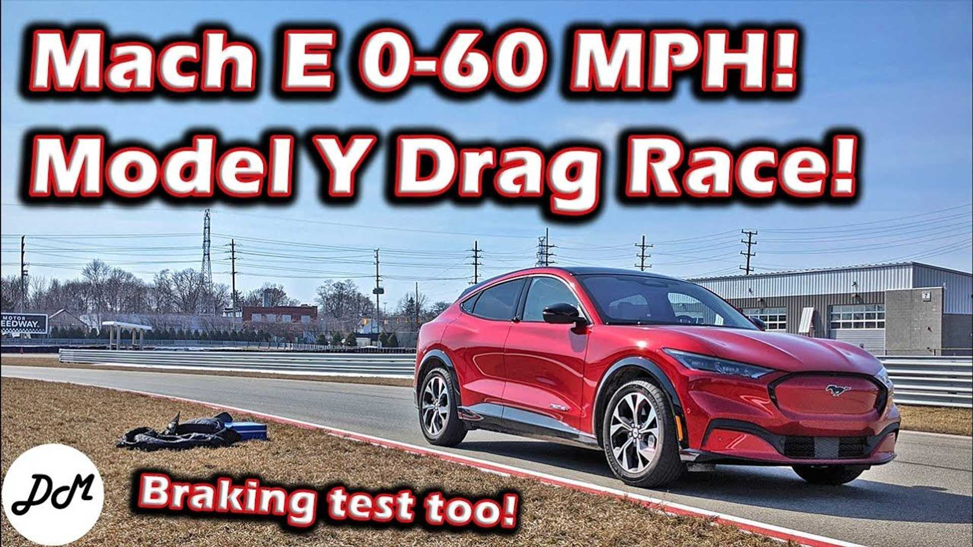 See Ford Mustang Mach-E Performance Testing And Race With Tesla Model... image