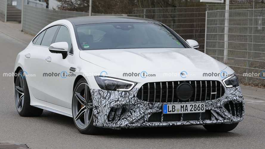 Mercedes-AMG GT 4-Door Coupe Spied With Minimal Camouflage