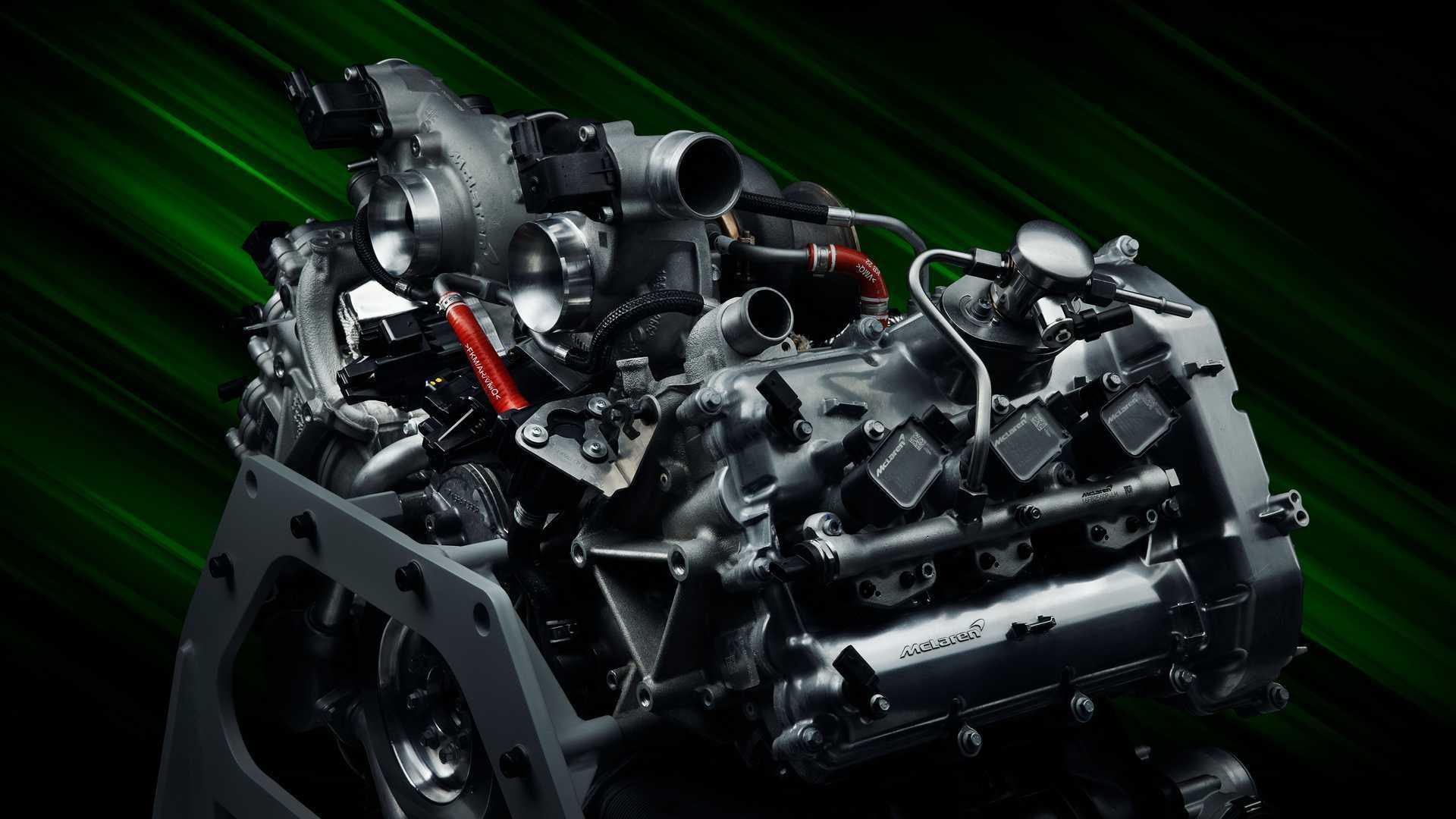 2022 McLaren Artura V6 Engine