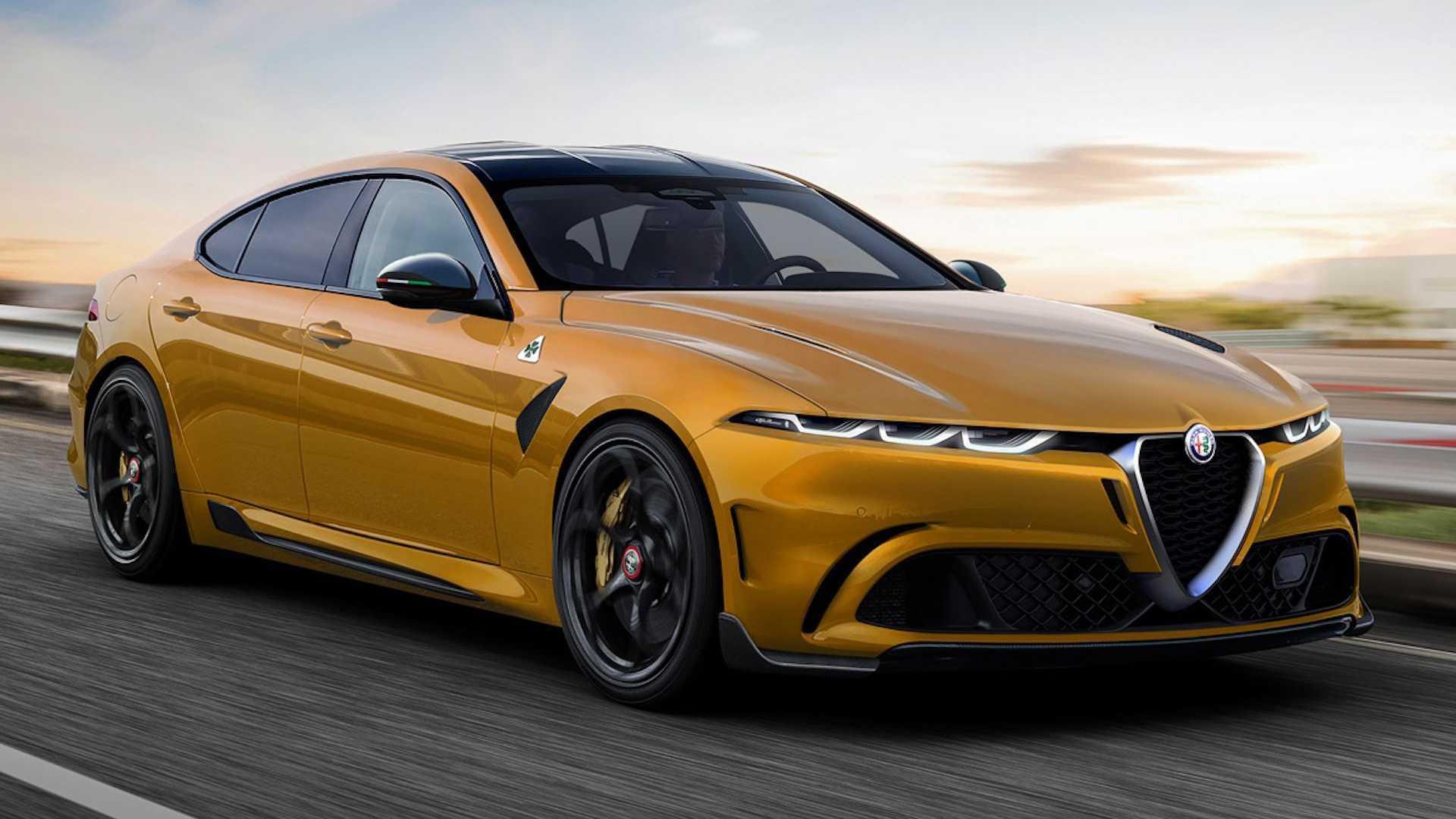 Неофициальный рендеринг потрясающего седана Alfa Romeo представляет соперника BMW 5er
