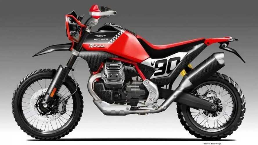 Digital Designer Imagines Moto Guzzi V85 TT As Desert Enduro